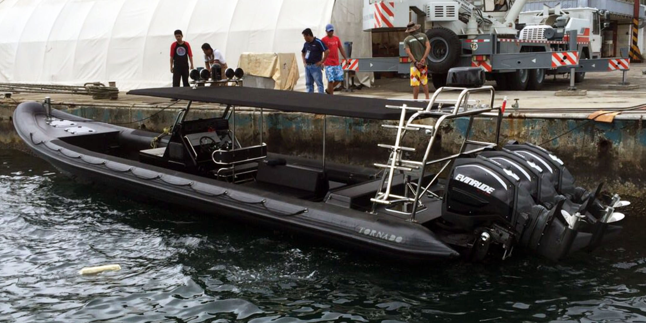 Rescue, offshore, military and police boats. Tornado 12.5m high performance RIB