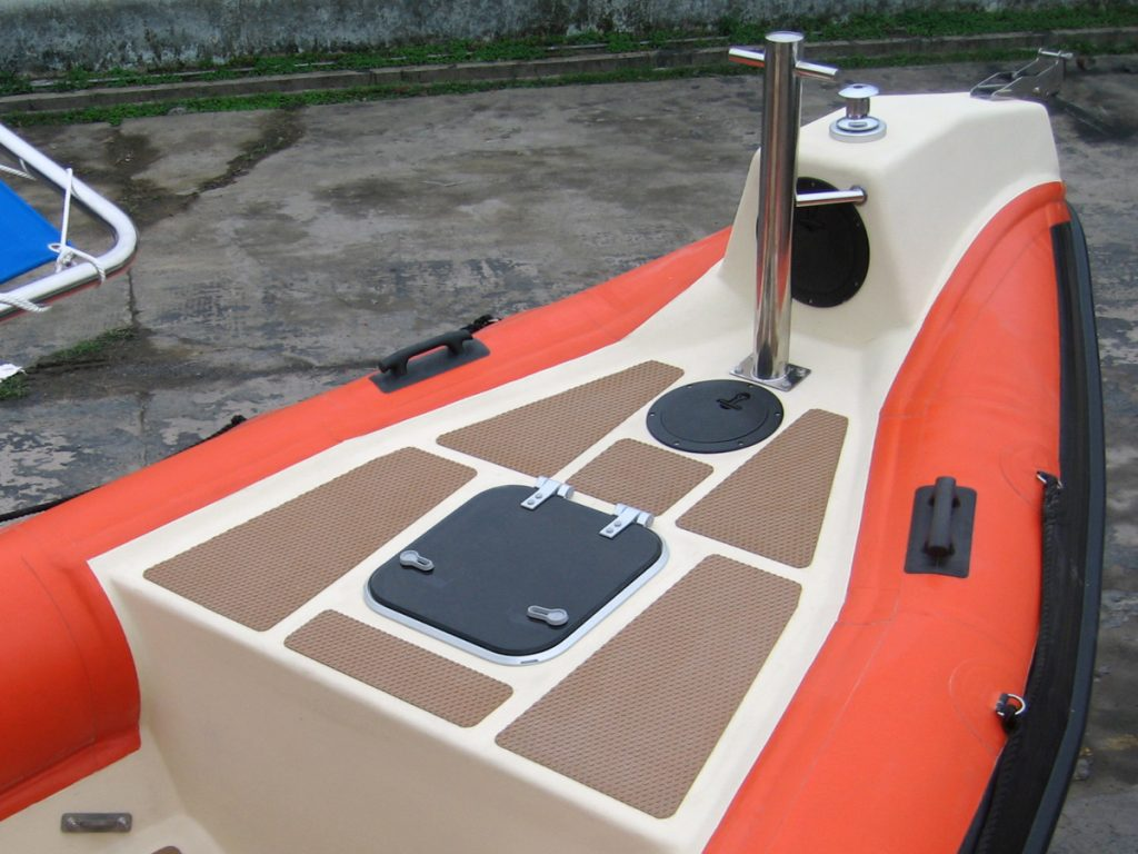Tornado Foredeck Locker with vetus hatches and Treadmaster surface