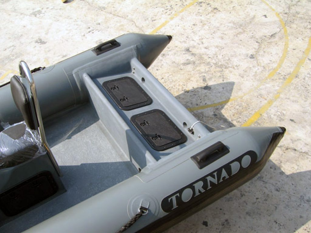 Tornado Transom Locker with standard hatches