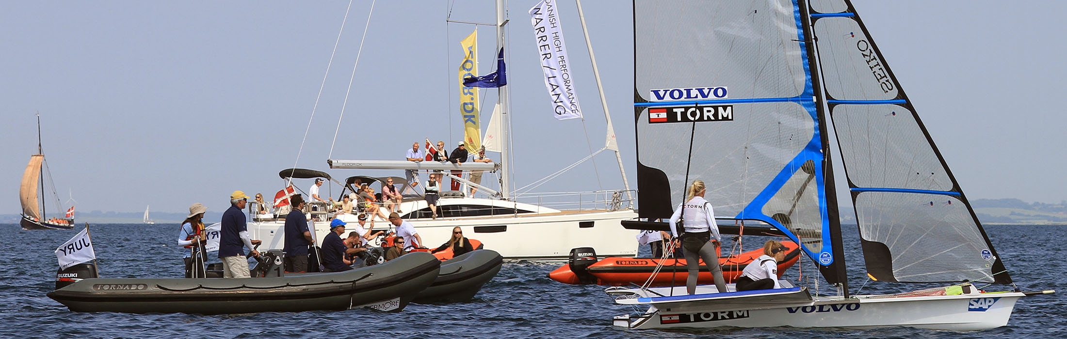 5.4m high performance rib from Tornado Boats at 29er European championships