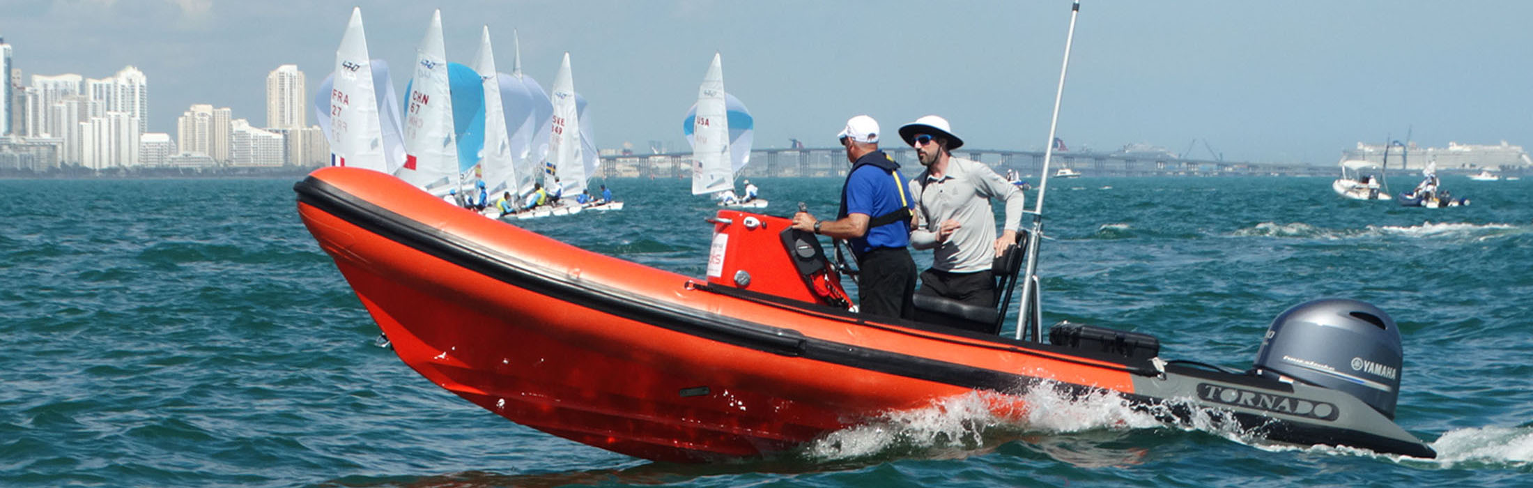 orange/grey rib from Tornado Boats at World Cup in Miami