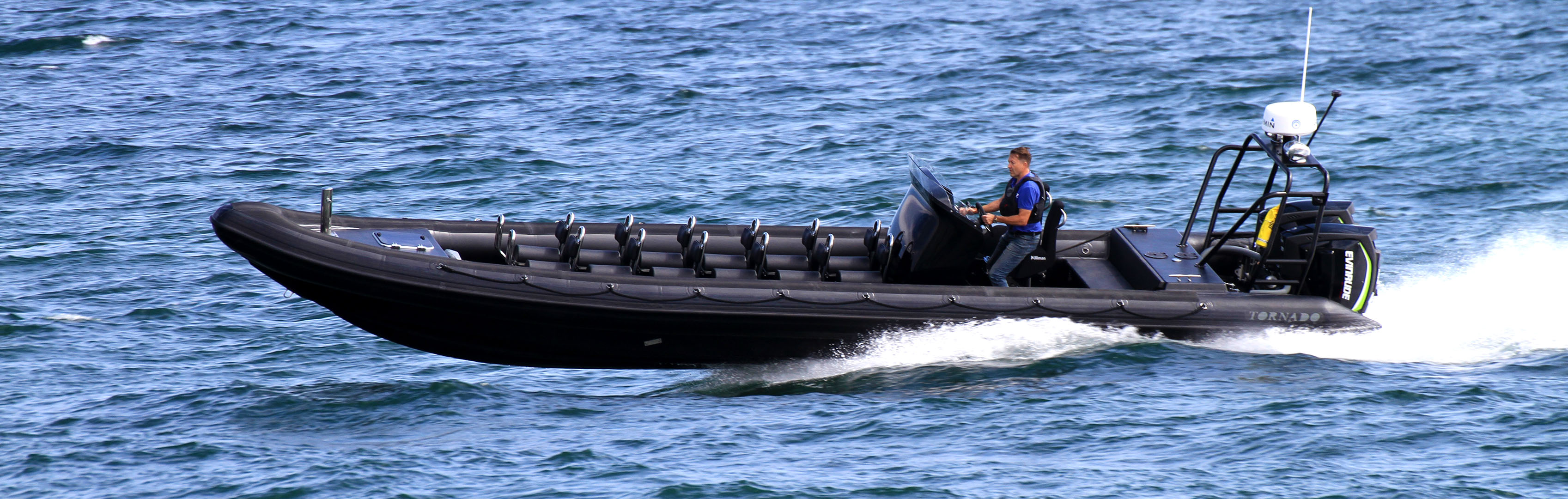 11m high performance rib from Tornado Boats