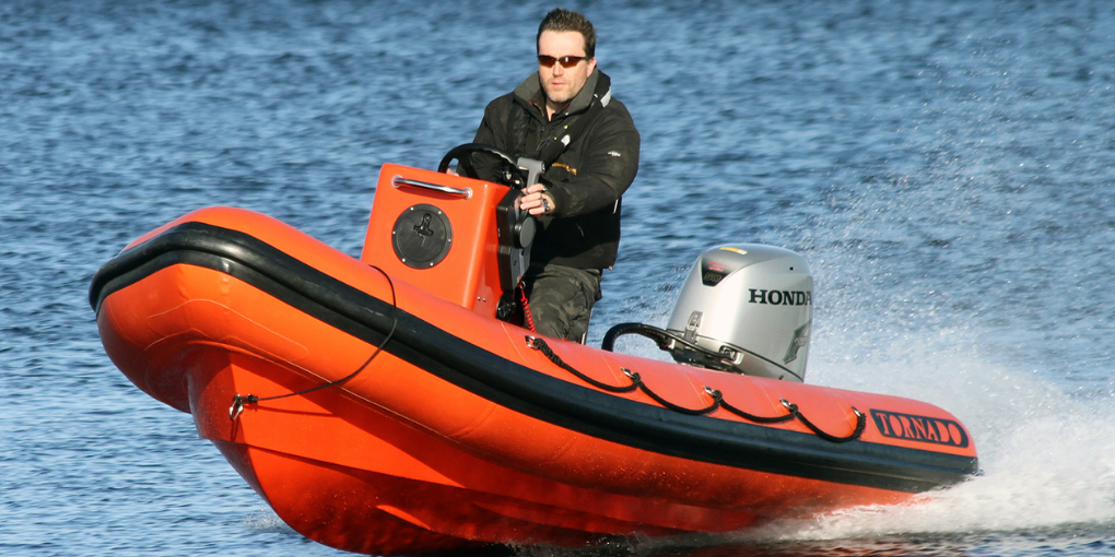 Tornado 4.8m multi purpose RIB in orange