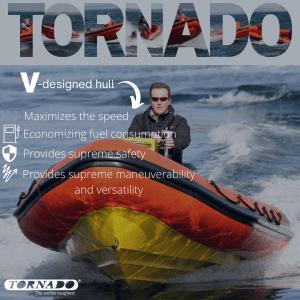 tornado v-designed hull