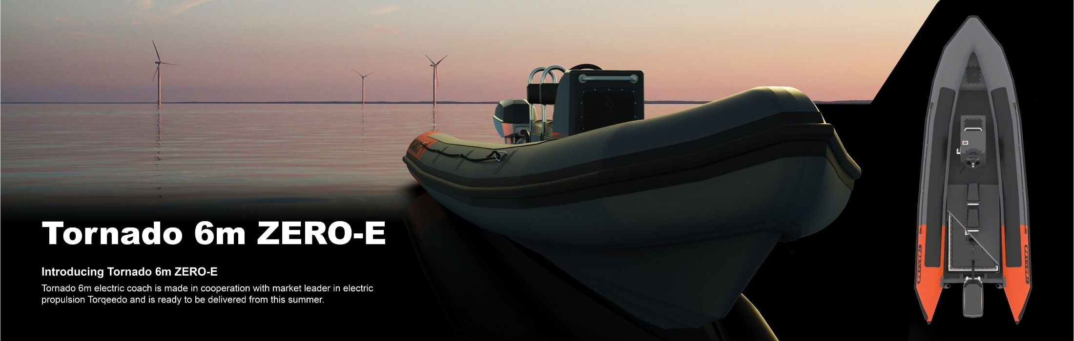 6m zero-e rib from Tornado Boats